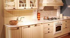 diseño de cocina italiana color beige