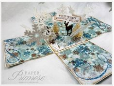 Winter Scene, exploding box by rebeccadeeprose - Cards and Paper Crafts at Splitcoaststampers