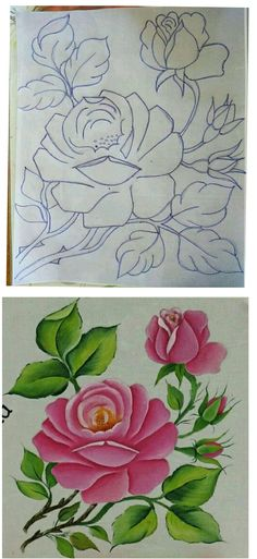 Flower Art Drawing, Flower Line Drawings, Flower Sketches, Hand Embroidery Patterns Free, Hand Embroidery Tutorial, Embroidery Flowers Pattern, Easy Cartoon Drawings, Art Drawings, Poppy Coloring Page