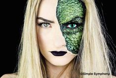 Reptile Makeup by @simplesymphony_ . Check out the youtube tutorial!