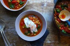 Tomato, Chickpea and Harissa Soup with Spinach Recipe on Food52 recipe on Food52