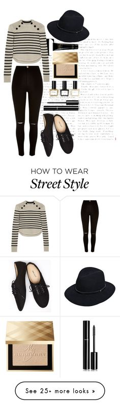 """""""Street Style"""" by annaplazekk on Polyvore featuring Isabel Marant, River Island, rag & bone, Wet Seal, Chanel, Balmain and Burberry"""