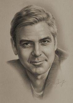 George Clooney @@@....http://www.pinterest.com/gelysa/dibujos-a-l%C3%A1piz/