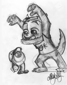 ROAR!! mike and sully