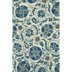 Shop for Hand-hooked Tessa Ivory/ Blue Wool Rug (5' x 7'6). Get free shipping at Overstock.com - Your Online Home Decor Outlet Store! Get 5% in rewards with Club O!