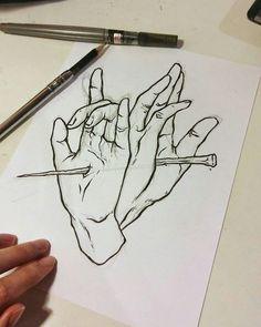 Drawing sketches, art drawings, sketchbook drawings, drawing ideas, t Pencil Art Drawings, Art Drawings Sketches, Easy Drawings, Tattoo Drawings, Tattoo Sketches, People Drawings, Pencil Sketching, Awesome Drawings, Fantasy Drawings