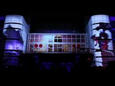 3D building projection mapping Houston NYE 2011