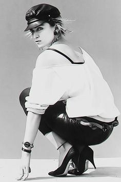 .Madonna 1983 first shoot with Steven Meisel.