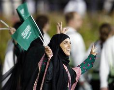 Saudi Arabia at the Opening Ceremonies of the 2012 Olympic Games in London, England