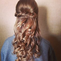 Updos for I Dos  1/2 up 1/2 down with curls