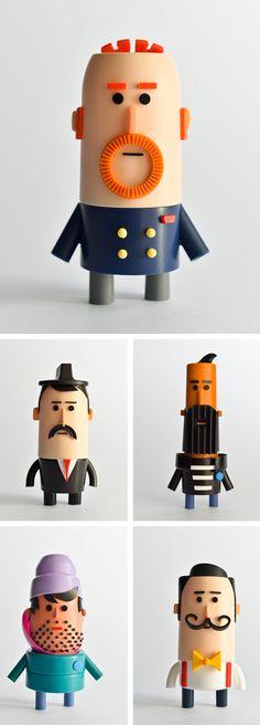 Olivier Goka conçoit cette très amusante série pour Cosmopolitan sur les hommes à barbe et à moustaches. ★ Find more at http://www.pinterest.com/competing