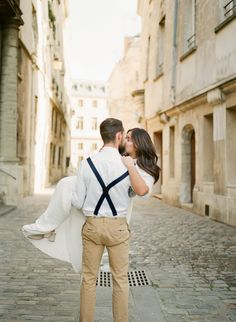 Anniversary couple session Paris by Harriette Earnshaw Photography In one small street in Paris. No tourists around. Engagement Couple, Engagement Session, Romantic Anniversary, Sky High, France Travel, In This Moment, Paris, Couple Photos, Street