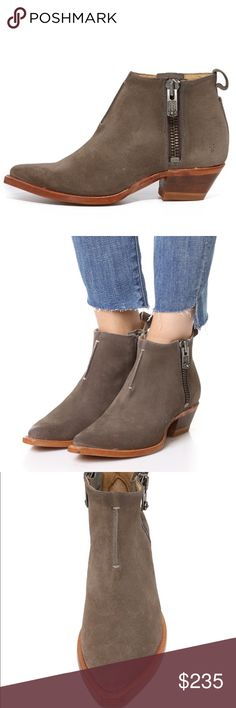 NEW🎈 FRYE ANKLE BOOTS Nooo TRADES😡. Brand new never worn ankle boots by Frye.  They will last a lifetime.  Dark gray and comes with box.   Beautiful construction and endless style.  Fits true.  SIZE 7 Women's Frye Shoes Ankle Boots & Booties