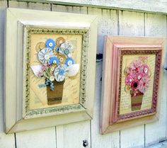 Totally cute idea - start looking for thrift shop interesting frames!