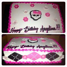 Monster High Birthday Cake   Dizzy Desserts
