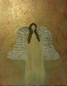 #abstractangel #customacrylicpainting #metallictexture #artbymelissaclarke