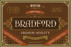 WT Bradford by Winston Type Co. on @creativemarket