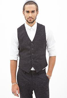 Flecked Woven Vest | 21 MEN - 2000120767