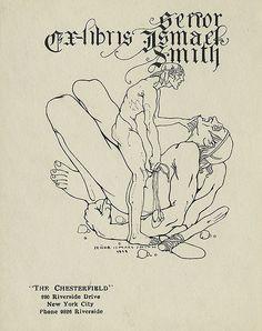 Bookplate of Senor Ismael Smith for himself, 1919