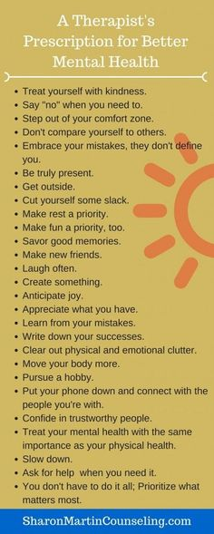 Tips for Better Mental Health