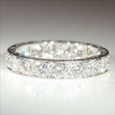 Vintage French Retro 3.8ctw Diamond Eternity Ring in Platinum c.1940. In my dreams....