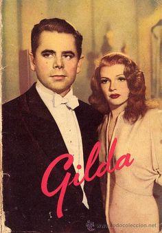GILDA BOOK ORIGINAL SPAIN 1950 Rita Hayworth Glenn Ford
