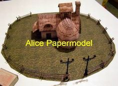 Online Shop [Alice papermodel]lineage house Farm buildings architecture diorama Sandbox house structure building models|Aliexpress Mobile