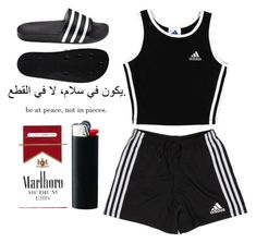 """* basic *"" by queenbrittani ❤ liked on Polyvore featuring adidas"