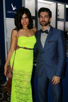 Neil Nitin Mukesh seen with a friend at GQ's Best Dressed Men 2014 party. #Style #Bollywood #Fashion #Beauty #Handsome