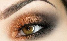 Makijaż: Copper & grey eye makeup