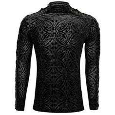 Retro Vintage Black Long Sleeve Gothic Fashion Dress Tops for Men SKU-11409455