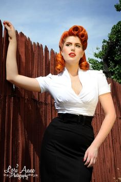 Laura Byrnes California Sean Top in White | Pinup Girl Clothing