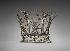 Crown  c. 1940s–50s Joseff of Hollywood metal, glass
