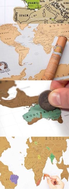 scratch off world map ahh how cool