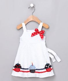 Good Lad White Cupcake Babydoll Dress - Infant