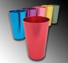 Aluminum Tumblers, set of 6, $12.99. Grandma had these when we were kids, I LOVED drinking out of them, they always keep col drinks colder.