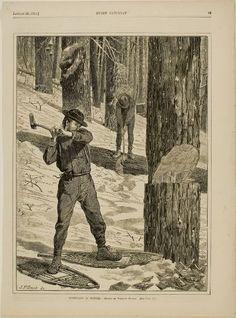 Winslow Homer, Lumbering in winter, 1871, Harvard Art Museums/Fogg Museum