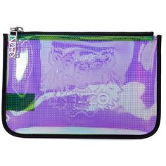 Purple Iridescent Rubber Clutch (370 MYR) ❤ liked on Polyvore featuring bags, handbags, clutches, viola, womenbagsclutches, kenzo purse, kenzo handbags, kenzo, iridescent handbag and purple handbags