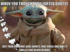 Baby Yoda build a bear Yoda Meme, Yoda Funny, Funny Cute, Really Funny, Hilarious, Yoda Images, Star Wars Jokes, Star Wars Baby, Belly Laughs