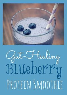 A digestion expert shares one of his favorite power smoothie recipes. #blueberry #protein
