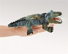 Alligator Finger Puppet by Folkmanis Puppets at www.stuffedsafari.com