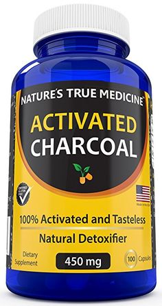 Natures True Medicine Activated Charcoal Capsules (450 Mg Supplement)