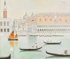 View Venedig by Einar Jolin on artnet. Browse upcoming and past auction lots by Einar Jolin. Henri Matisse, Worlds Of Fun, Painting Inspiration, Illustration Art, Illustrations, Taj Mahal, Art Drawings, Urban, Artwork