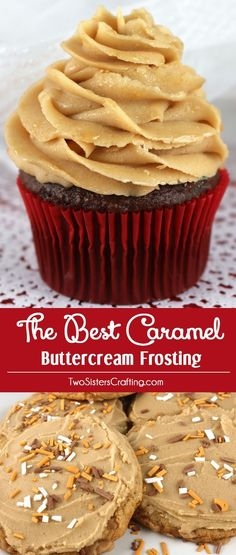 The Best Caramel Buttercream Frosting - sweet creamy and delicious. This frosting tastes great on nearly every type of cake cupcake or cookie. If you are looking for a rich. buttery and easy to make homemade butter cream frosting . this is the yummy car Brownie Desserts, Just Desserts, Delicious Desserts, Fall Desserts, Cupcake Recipes, Baking Recipes, Dessert Recipes, Kitchen Recipes, Tasty Kitchen