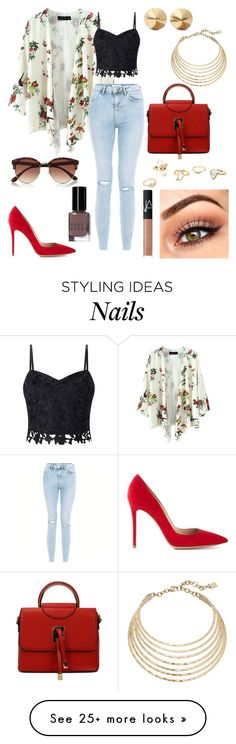 """Untitled #174"" by angelicaaans on Polyvore featuring Lipsy, Gianvito Rossi, Robert Lee Morris, Eddie Borgo, River Island, Bobbi Brown Cosmetics and NARS Cosmetics"