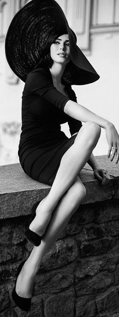 Image result for large hat dress photograph black and white