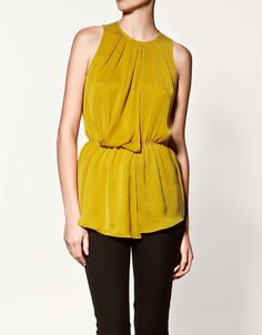 Zara: Draped Top...love this color and would be perfect for work