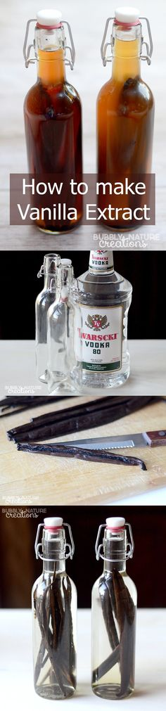 How to Make Vanilla Extract! Just in time for Christmas gift giving! This simple tutorial explains it all in detail! (Baking Tips And Tricks) Christmas Baking Gifts, Christmas Drinks, Vanilla Extract Recipe, Homemade Seasonings, Cake Flavors, Seasoning Mixes, Homemade Gifts, Diy Gifts, Homemade Products
