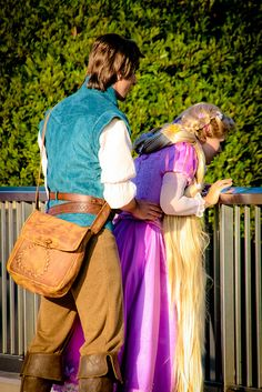 Rapunzel and Flynn Rider - what is happening in this picture?!?!? LOL!