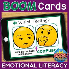 THIS IS AN INTERACTIVE DIGITAL RESOURCE. Download the preview to play a shortened version of the Boom Deck – this will help you decide if the resource is suitable for your students. ABOUT THIS BOOM DECK: This deck will help learners develop social and emotional skills by identifying feelings/emotions from a field of 2 pictures. There are 25 cards in the deck.  Students should first listen to and/or read the feeling they have to identify, then click on the correct facial expression.